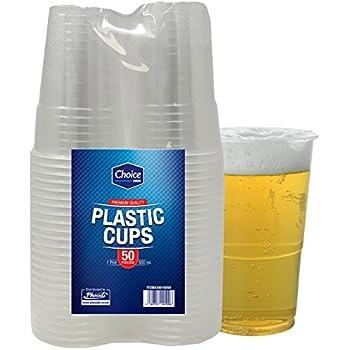 Lot de 50 gobelets jetables en plastique solide verres pinte de bi re id al pour homme de f te - Pinte de biere en ml ...