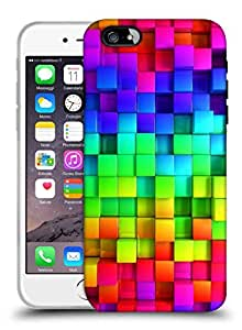 Snoogg Colorful Blocks Designer Protective Back Case Cover For IPHONE 6