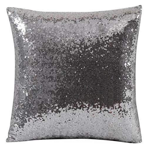 Ode_Joy Tinta unita Paillettes glitterati Throw Pillow Case Cafe Home decor Fodere per cuscino-Cuscini 45X45cm Federa Cuscino in Unita Decorativi Letti Divano Copricuscini e federe