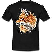 Fuchs Kopf Zeichnung Rotfuchs Männer T-Shirt von Spreadshirt®