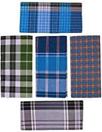 Emerald ® Men's Cotton Lungi - Pack Of 5 (2 meter) (Assorted Designs and Colors)