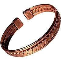 magnetisch abgeflacht Seil mit seitlichen Riegel massiv Kupfer Armband - 2 Handgelenk Größen - CCB -mb19 - Medium... preisvergleich bei billige-tabletten.eu