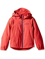 Columbia–Splashflash II Hooded Softshell, chaqueta cortavientos impermeable niño, niño, Splashflash II Hooded Softshell, Sunset Red, Large