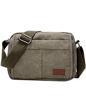 Super Modern Leinwand Umhängetasche Messenger Bag Retro Leichte Kleine Umhängetasche Mini iPad Tasche Wandern...