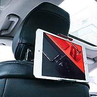 "Soporte Tablet Coche, Lamicall Soporte Tablet para Reposacabezas : Soporte Base Ajustable para 4""~11"" Tablets para Pad 2018 Pro 9.7, 10.5, Air mini 2 3 4, Phone, E-reader, Otras Tablets - Rojo"
