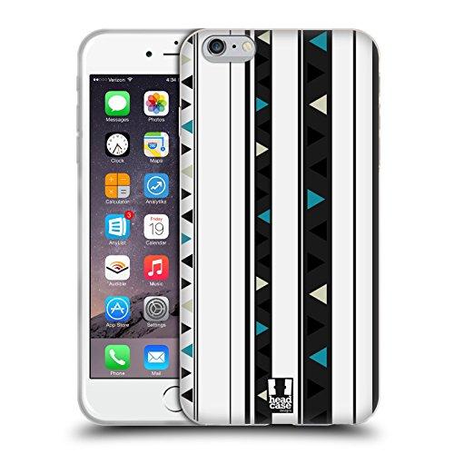 Head Case Designs Bleu Foncé Et Rouge Rayures Imprimées Étui Coque en Gel molle pour Apple iPhone 5 / 5s / SE Noir Et Blanc
