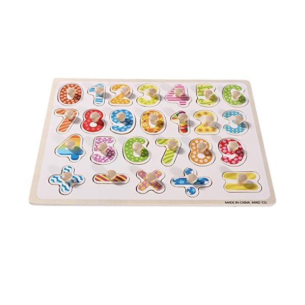 Puzzle Numeri Legno Toymytoy Puzzle A Incastro In Legno Con Numeri