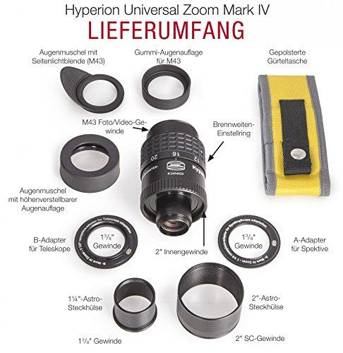 Baader Planetarium 2454826 Weitwinkel Hyperion Zoom Okular 8-24mm Mark IV schwarz