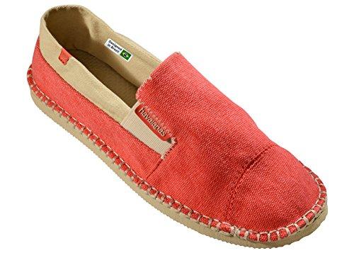 Havaianas Unisex Schuhe Herren und Damen 4137008 Yacht leichter Espadrilles mit Gummisohle, Clog rot-0020