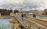 Sisley: Foot-Bridge 1872. /Nthe Foot-Bridge Of Argenteuil. Oil On Canvas By Alfred Sisley. Fine Art Print (60.96 x 91.44 cm)