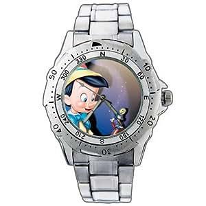 New Fashion WE210 Classic Pinocchio Green Grasshopper Best New Stainless Steel Wrist Watch