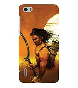 Fabcase War with lord rama Designer Back Case Cover for Huawei Honor 6