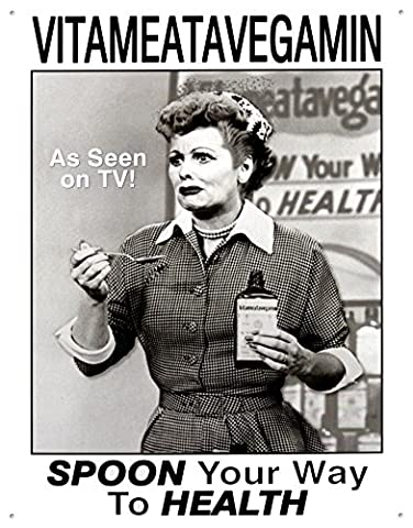 I love LUCY Vitameatavegamin TV Retro Vintage Blechschild (Lucy Christmas Episode)