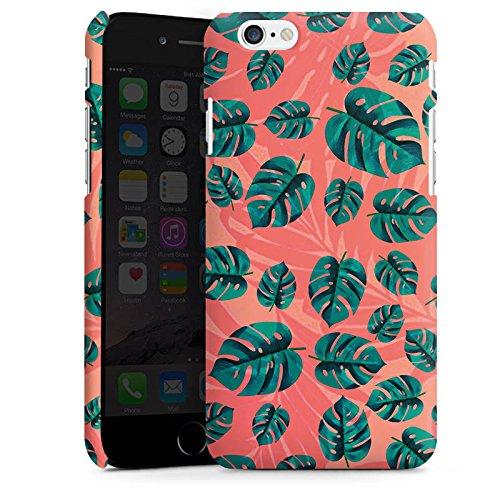 Apple iPhone X Silikon Hülle Case Schutzhülle Blätter dschungel Natur Premium Case matt