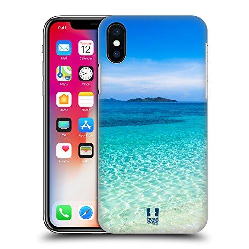 Head Case Designs Onde Trasparenti Spiagge Meravigliose Cover Retro Rigida per Apple iPhone X Spiaggia Di Sabbia Tropicale Malcapuya