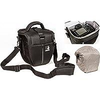 Sacchetto della macchina fotografica BODYGUARD Colt M con parapioggia per tutte le fotocamere reflex con lenti fino a 18 centimetri, come Nikon d3200 d5100 d5200 d3300 d5300 d5500 d7000 d7100 d800 Canon EOS 1200D 1300D 700D 750D 760D