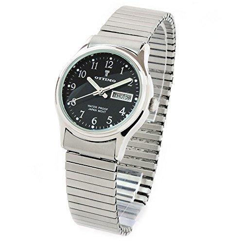 FTW Reloj de Pulsera para Mujer con Acabado Cepillado, Color Plateado y Negro
