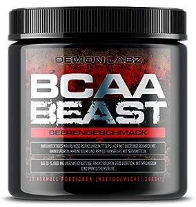 BCAA Beast (Beerengeschmack) - BCAA Pulver 10:1:1-15.000mg BCAA pro Portion -...