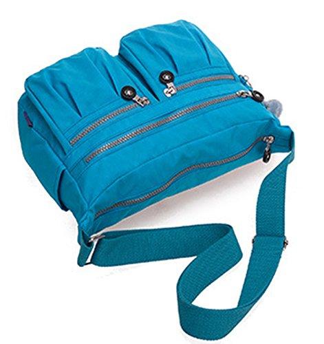 Keshi Nylon neuer Stil Damen Handtaschen, Hobo-Bags, Schultertaschen, Beutel, Beuteltaschen, Trend-Bags, Velours, Veloursleder, Wildleder, Tasche Blau