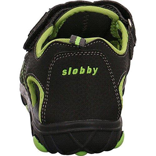 Slobby  45-0588-a1, Sandales pour garçon Schwarz-Grün