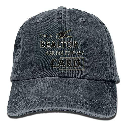 Preisvergleich Produktbild New FACUP Real Estate Realtor I'm A Realtor Ask Me Unisex Washed Twill Cotton Baseball Cap Vintage Adjustable Hat