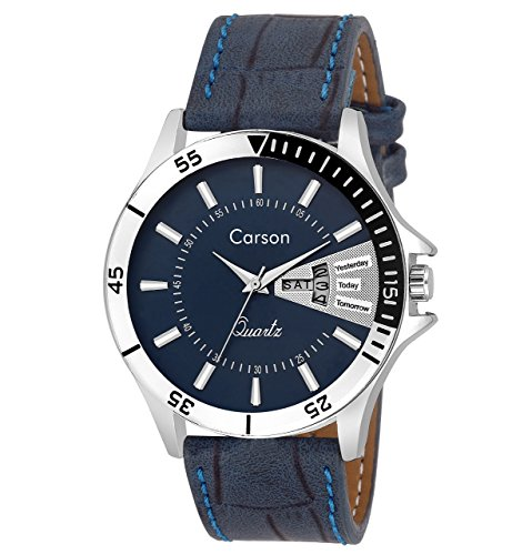 Carson Analogue Blue Dial Men'S Watch- Cr1535