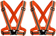 KKmoon Reflective Vest with High Visibility Bands Tape Multi-Purpose Adjustable Elastic Safety Belt for Night