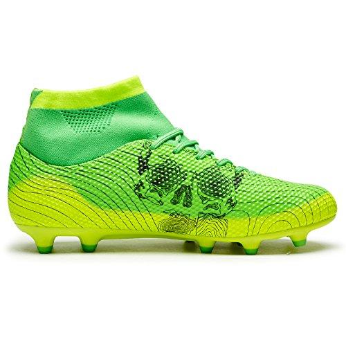 ASHION Chaussures de Futsal Mixte Enfant Chaussures de soccer pour enfants / adultes Vert