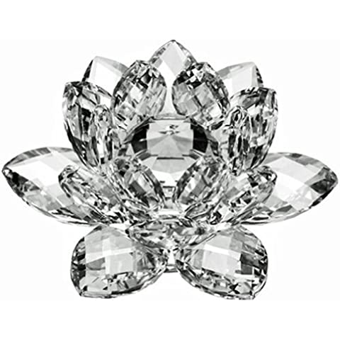 Alta calidad de cristal de flor de loto 12,7 cm con la caja de regalo