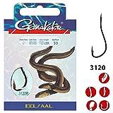 Gamakatsu Hook 3120R Eel 70cm rot - 10 gebundene Aalhaken zum Angeln auf Aale, Angelhaken zum...
