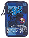 Monster Cars 6521 - 3-Fach Federtasche Karo