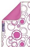 Original Dooky 126501 - Manta con protección solar, diseño de círculos, color blanco y rosa