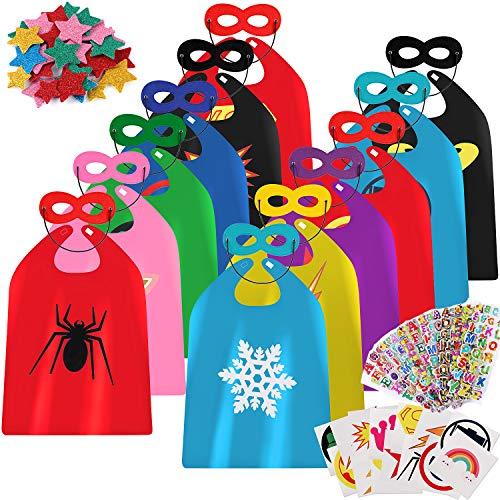 Cape Kind Batman Maske & Kostüm - VAME Kinder Umhang Kostüm Cape Maske Halloween DIY Umhang Rollenspiel Party Halloween Maske Kinder