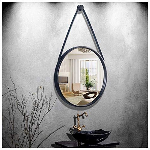 Espejo redondo montado en la pared, espejo de maquillaje Vanity Girl negro for la entrada del dormitorio...