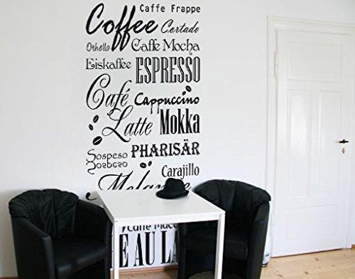 Wandtattoo Tapete No.736 Coffee & more Kaffee Getränk Tasse Tee Mokka Kaffee, Farbe:Grün;Größe:150cm x 83cm (Mokka-grüner Tee)