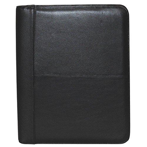 Buxton echtes Leder umlaufender Reißverschluss Portfolio Gr. Medium, schwarz -