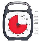 Time Timer Plus 60 Min-Black-Uhr für Zeitverwaltung, Zeitmanagement Geeignet für Büro, Klassenzimmer, zu Hause, Kinder mit (Kinder mit ADHS, Add, Autismus, Asperger-Syndrom) inkl. 1x Haftnotiz-Zettel