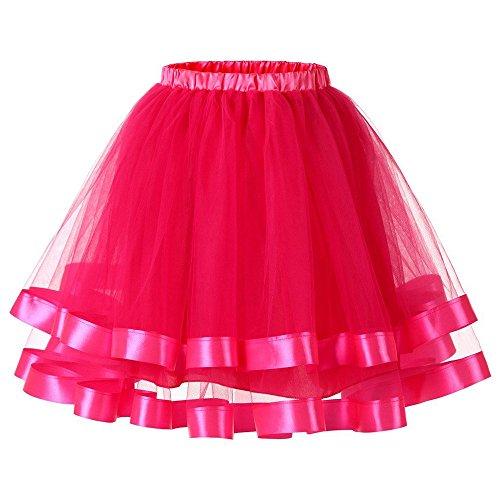 Feixiang gonna balletto adulti tutu stratificati colore mini gonne donne pizzo principessa petticoat per il partito prom balletto pattinatrice vestito abito sottogonna danza festa da ballo
