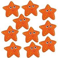 Gazechimp 10 Piezas Apliques de Bañera No Deslizante Etiqueta Estrella de Mar Pegatina Antideslizante de Pisada
