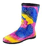 ACO Damen Gummistiefel Regenstiefel bunt Kurzschaft Stiefel (38)