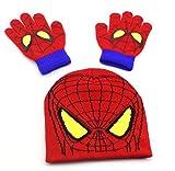 """Deux pièces ensemble enfants gants chapeau hiver Fantasy Hot Fantasy Superhero homme araignée unisexe idée cadeau"""","""