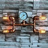 BAYCHEER Industrie Wandlampe Editon Beleuchtung Wandleuchte Steampunk Lampe Eisen Rohr Jahrgang E27 220-240V mit 4 Fassung Küchenlampe Schlafzimmerlampe