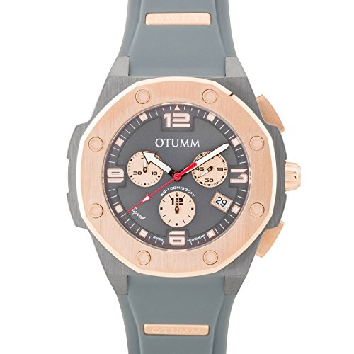 Otumm Speed grau rose gold 012 45 mm Unisex Speed Armbanduhr