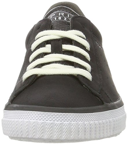 ESPRIT Damen Riata Lace Up Sneakers Schwarz (Black 001)