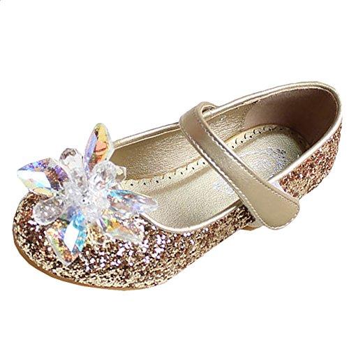 Scothen Filles ballerines princesse chaussures chaussures en cuir étudiant chaussures de danse chaussures de princesse papillon enfants Parti Ballerinas Bow Bow scintillantes vente Bottines d'or