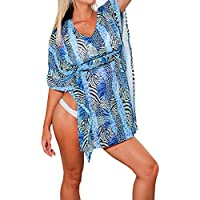 La Leela super leggero chiffon trasparente d'epoca costumi da bagno di paillettes ricamate elastico più 4 in 1 spiaggia di occultamento bikini tunica top vestito di base tunc caftano
