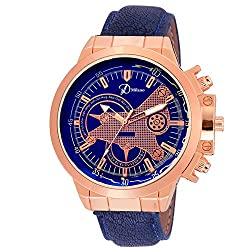 DMilano Men Copper Sapphire Casual Analog Watch