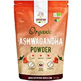 Organic Ashwagandha Root Powder 250g | All Natural Anxiety Relief, Stress Support & Sleep Aid | Fatigue, Thryroid, Adrenal & Immune Support | Herbal Ashwagandha Powder to Help Balance Energy Levels