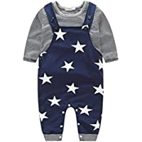 Per 0-2 anni,Amlaiworld Baby Boys Pantaloni Set Stripe t-shirt +