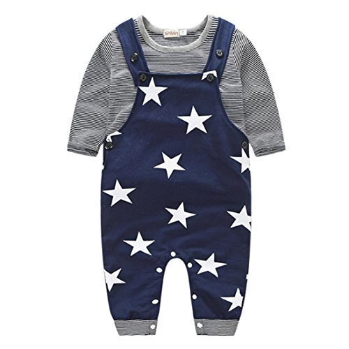 Per 0-2 anni,Amlaiworld Baby Boys Pantaloni Set Stripe t-shirt +